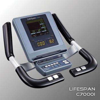 Велотренажёр электромагнитный (велоэргометр) LIFESPAN C7000i, вертикальный, фото 7