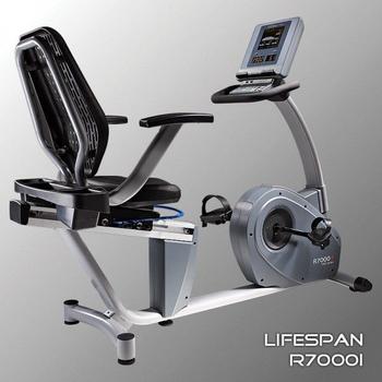 Горизонтальный электромагнитный велотренажёр LIFESPAN R7000i, фото 5